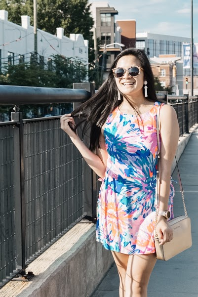 Lilly Pulitzer Donna Romper - Charlotte, NC Blogger