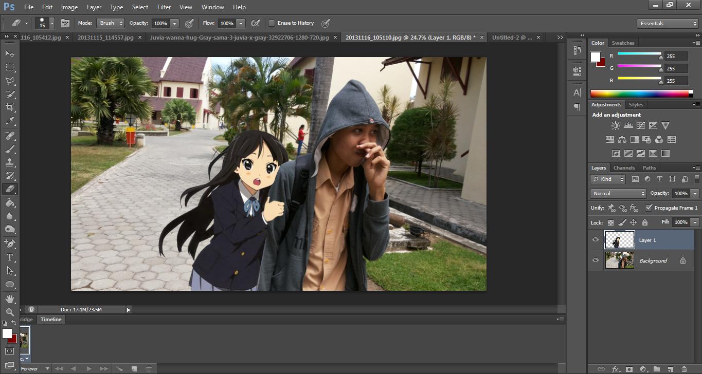 Cara Edit Foto Bareng Karakter Anime PHOTOSHOP [JOMBLO ...