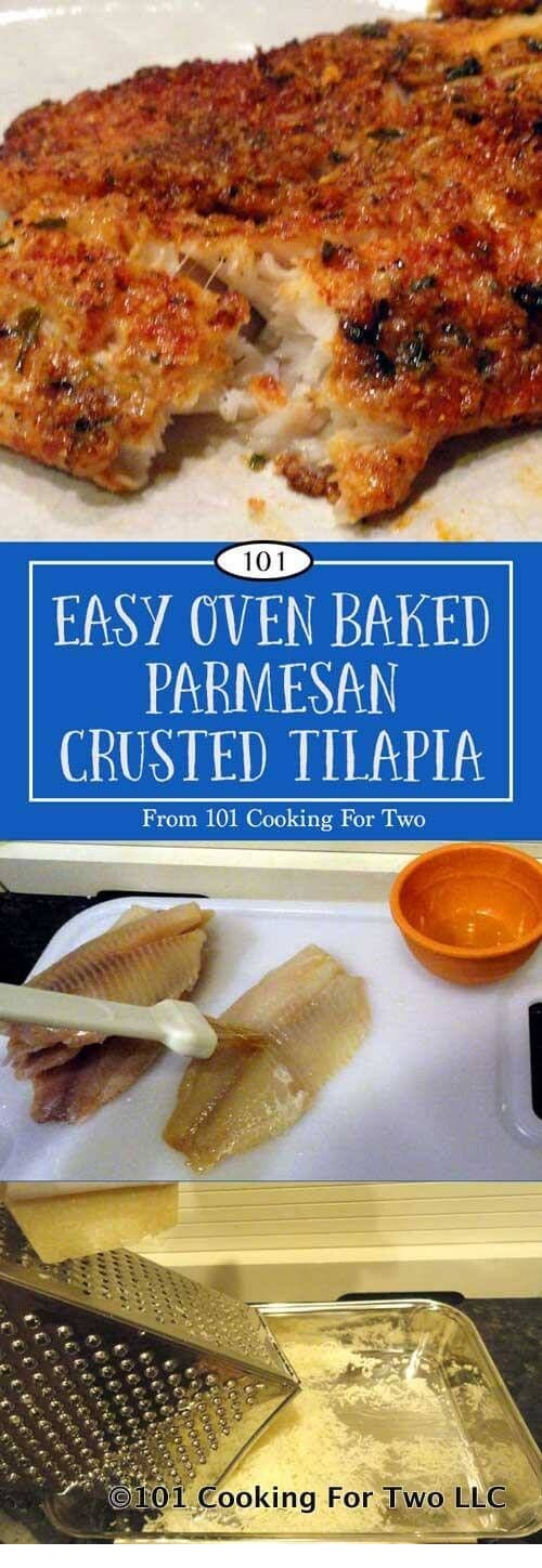 Oven Baked Parmesan Crusted Tilapia