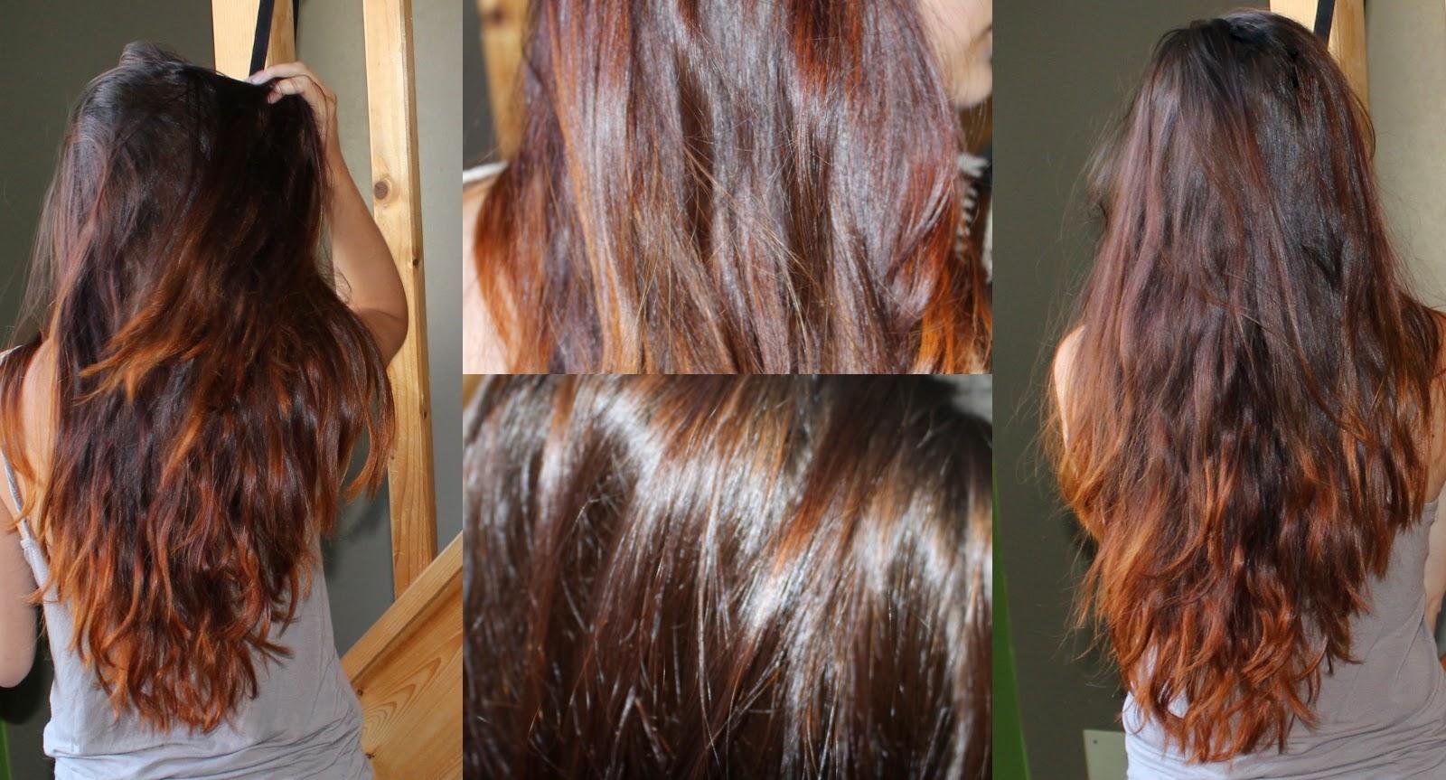 cheveux reflet cuivre