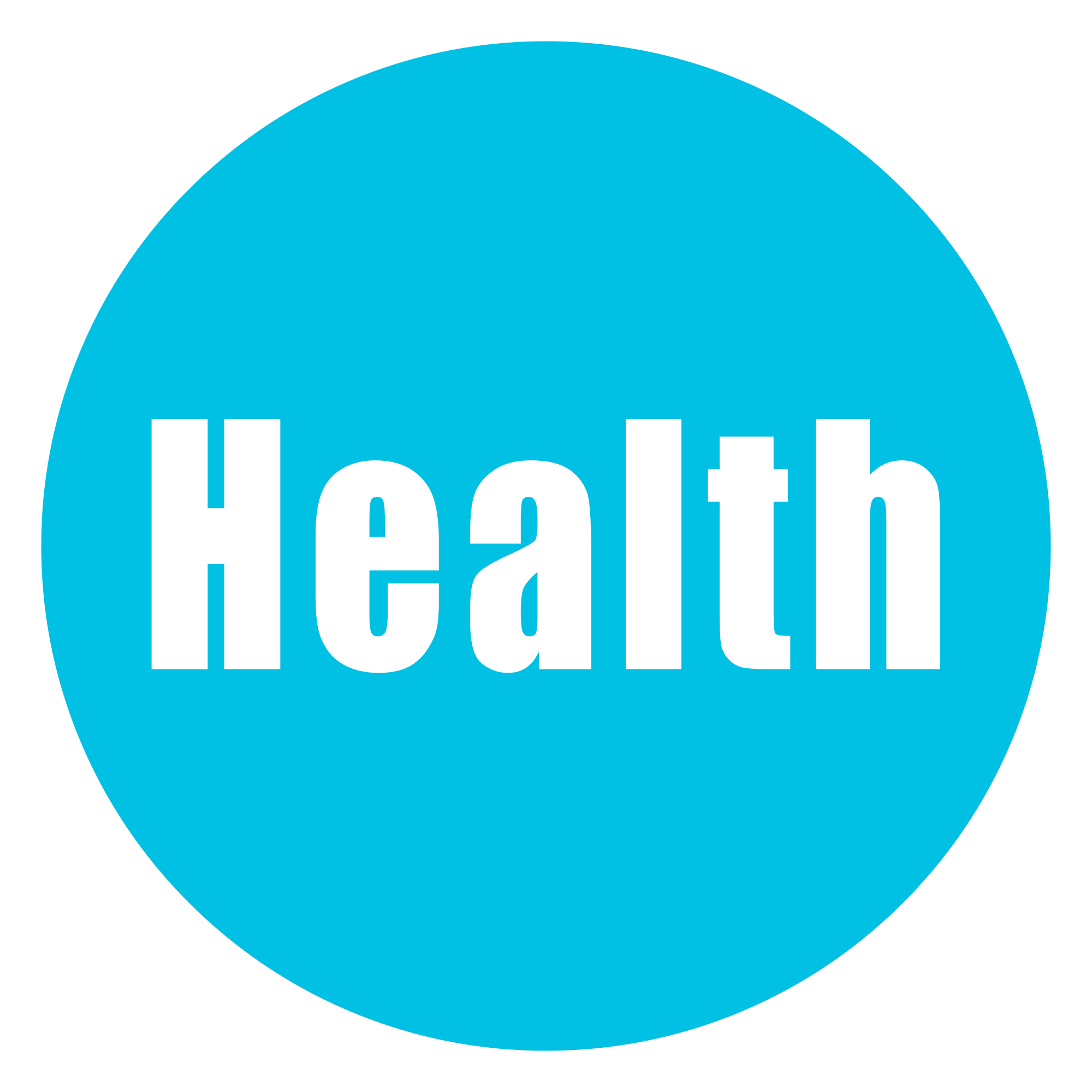 Health circle png vector