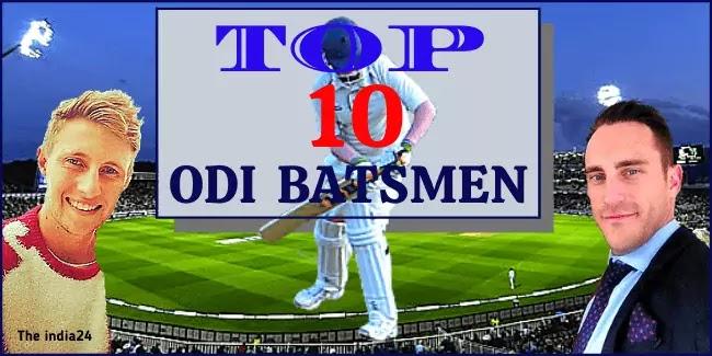 Top Ten Current ICC ODI Ranking Batsman.