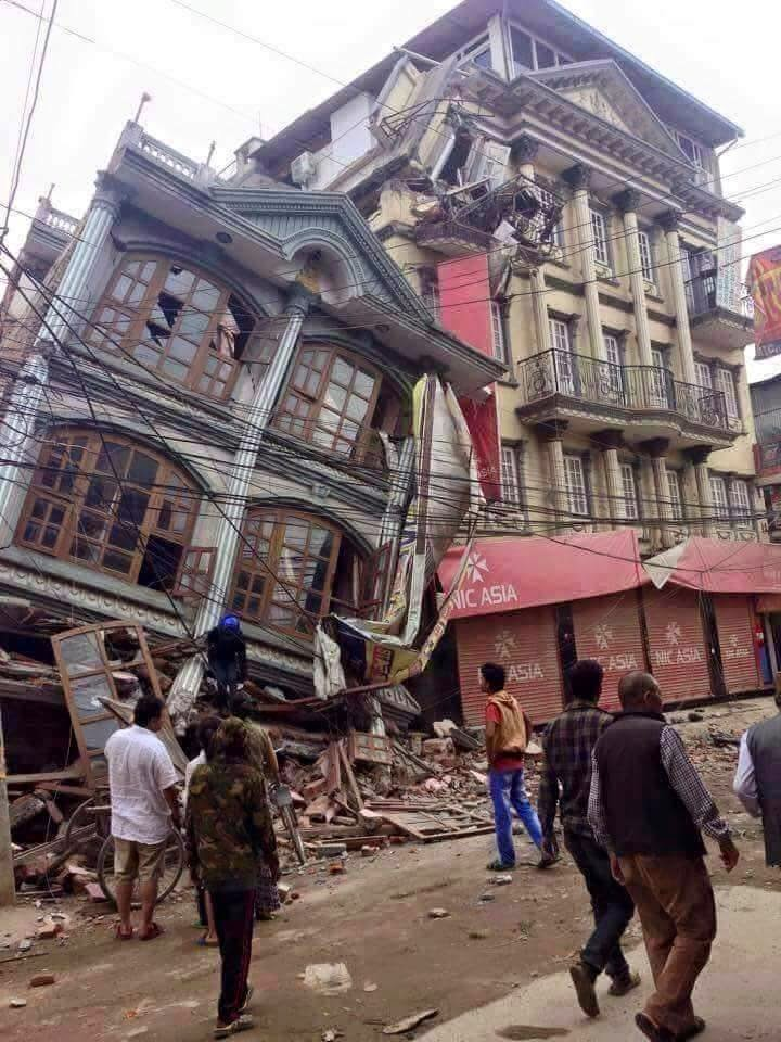 Building collapsed by the Earthquake Nepal 2015