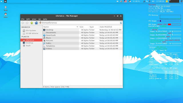 Arch XFerience Linux Thunar File Manager