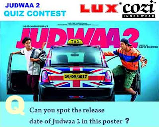 Lux Cozi Judwaa 2 contest