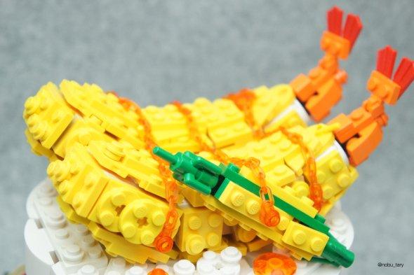 nobu_tary flickr esculturas de lego comidas pote de arroz camarão frito