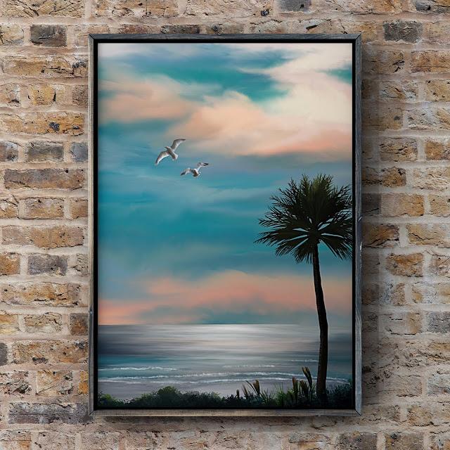 Beneath a Florida Sky, art by Mark Taylor, Florida art, landscape art,