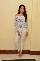 Actress Pragya Jaiswal Latest Pos in White Denim Jeans at Nakshatram Movie Teaser Launch  0007.JPG
