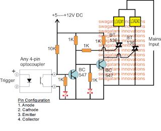 Gadget Download Triac SPDT Relay Circuit