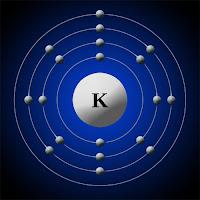 Potasyum atomu elektron modeli