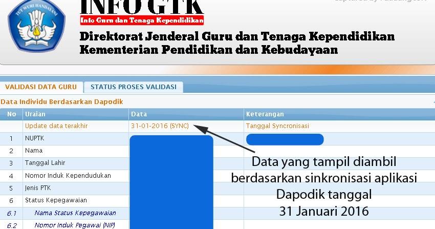 Cara Cek Validasi Data Guru dan Status Penerbitan SKTP Tahun 2016 di ...