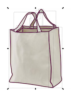 Vector Canvas Bag Line Work