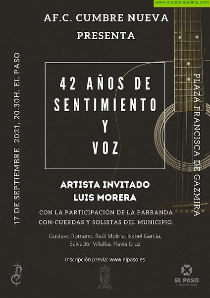La A.F. Cumbre Nueva celebra '42 Años de Sentimiento y Voz' con Luis Morera y la Parranda Con-Cuerdas