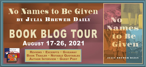 No Names to Be Given book blog tour promotion banner