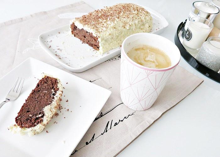 Schoko-Rum Kuchen mit Kokos