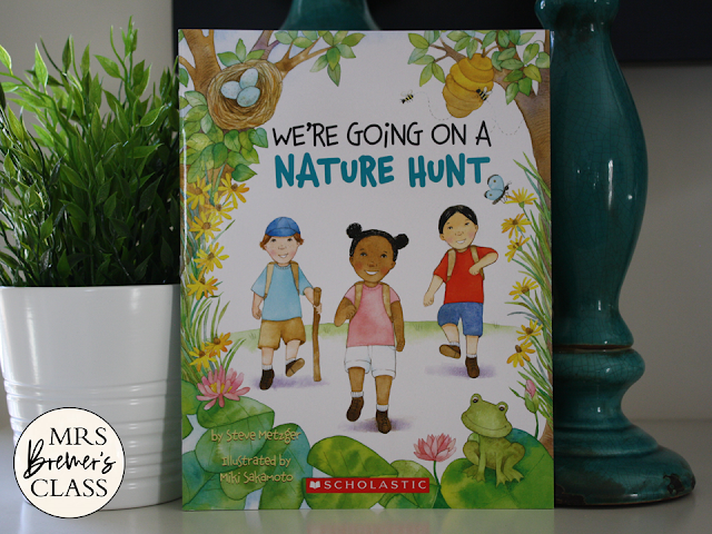 We're Going on a Nature Hunt book study Common Core companion activities unit and craftivity K-1