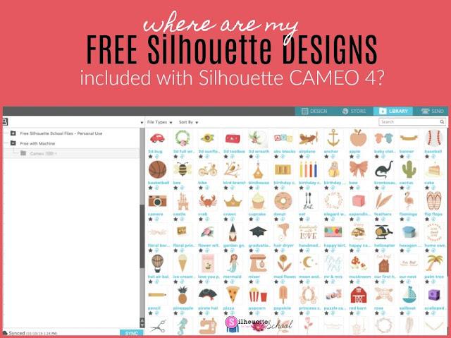 silhouette 101, silhouette america blog, cameo 4, free designs, silhouette cameo library