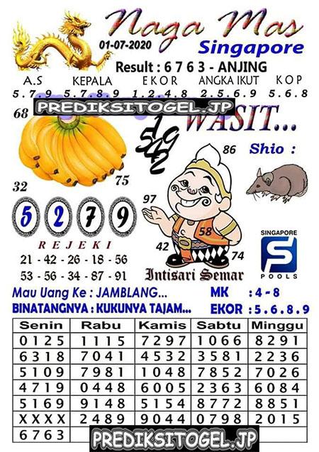 Syair Nagamas SGP Rabu 01 Juli 2020