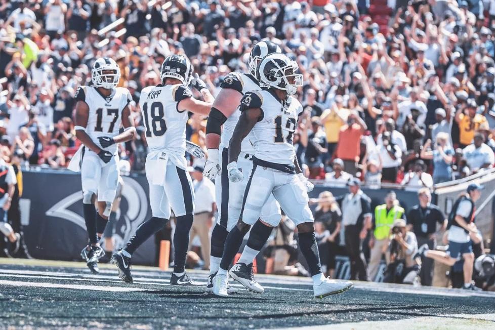 5ce6606904 Los Angeles Rams é um dos times ainda invictos em 2018 (foto  Therams.com)