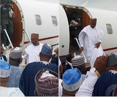 Bukola Saraki All Smiles As Government Officials Welcome Him