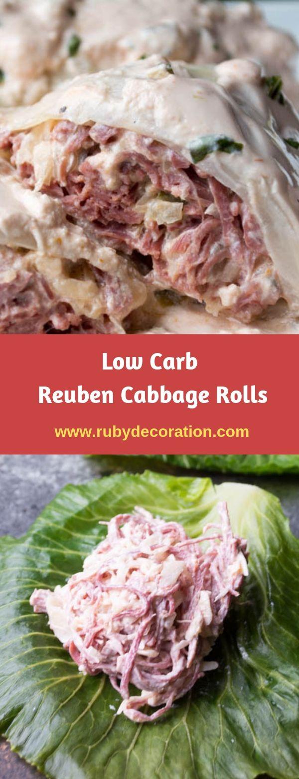 Low Carb Reuben Cabbage Rolls