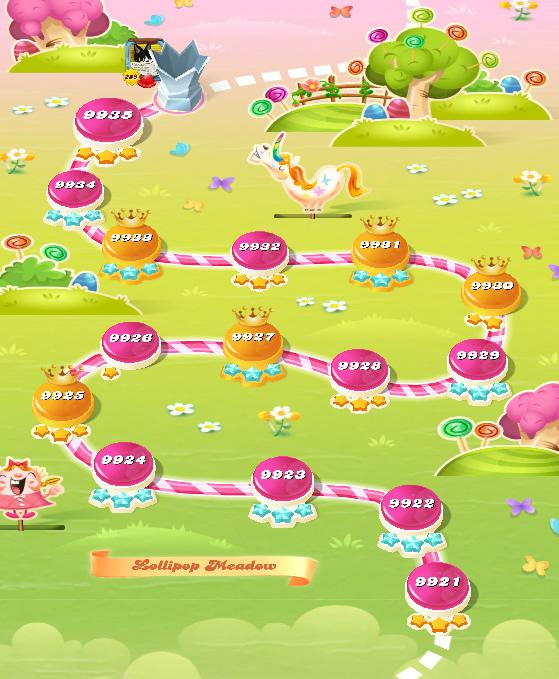 Candy Crush Saga level 9921-9935