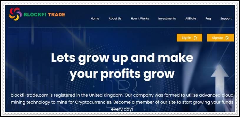 Мошеннический сайт blockfi-trade.com – Отзывы, развод, платит или лохотрон? Мошенники
