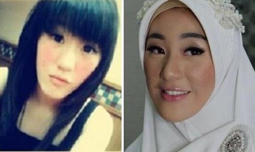 foto larissa sebelum dan sesudah make hijab