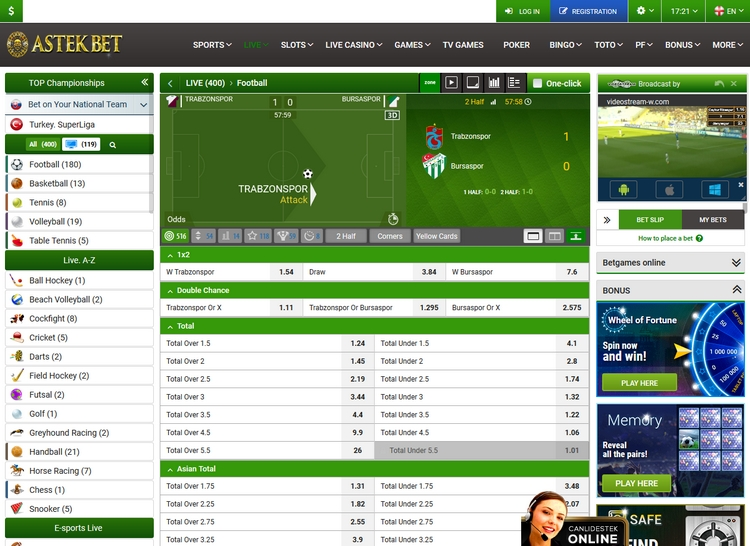 Astekbet Live Betting Offers