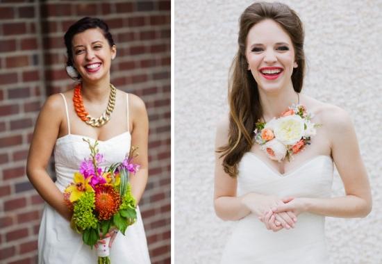 Bigiotteria per la sposa, statement necklace, collana per la sposa arancione, gioielli per la sposa colorati