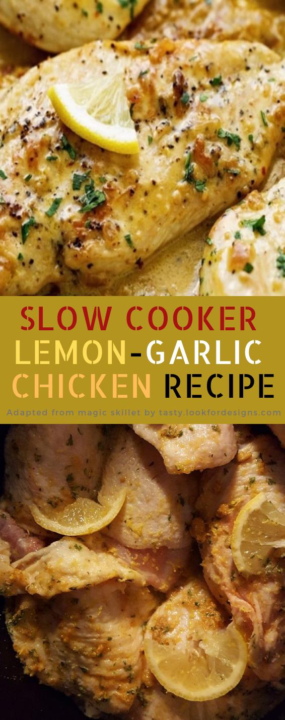 Slow Cooker Lemon-Garlic Chicken Recipe
