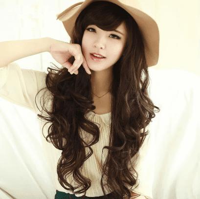 gaya rambut ikal wanita korea