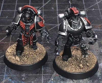 Horus Heresy Dark Angels Command Squad Veterans WIP