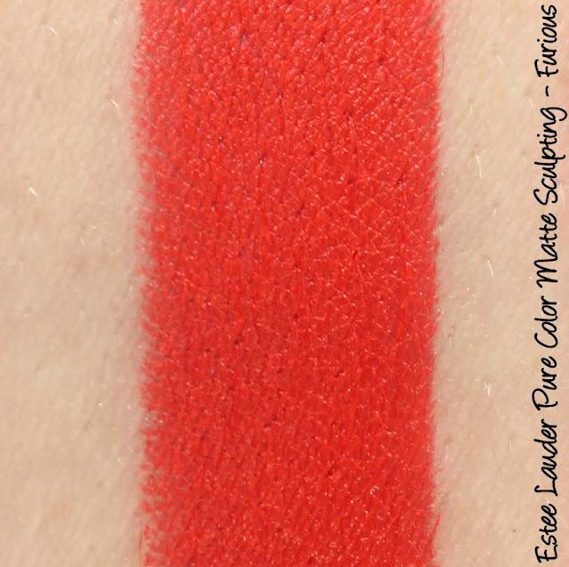 Estee Lauder Pure Color Envy Matte Lipstick - Furious Swatches & Review
