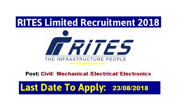 RITES Recruitment 2018