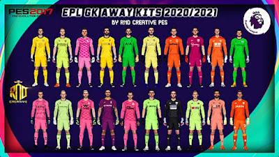 EPL Goal Keeper Away Kits 2020/2021