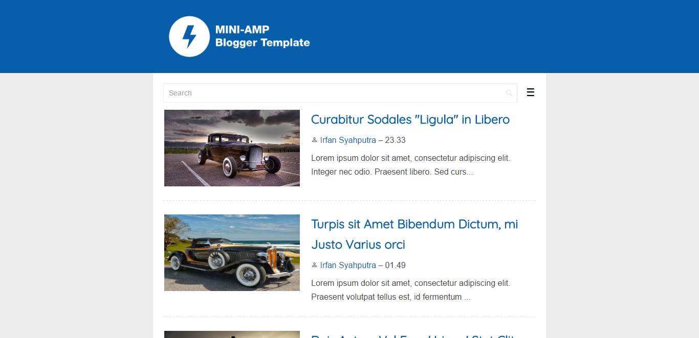 Mini-AMP Blogger Template