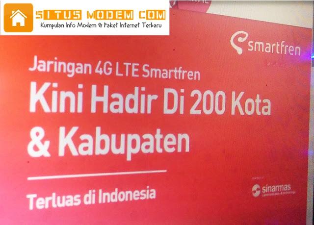 Kini Jangkauan Sinyal 4G Smartfren ada di 200 Kota dan Kabupaten
