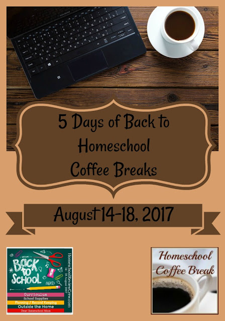 5 Days of Back to Homeschool Coffee Breaks on Homeschool Coffee Break @ kympossibleblog.blogspot.com - This is the hub for the Back to School Blog Hop, August 14-18, 2017