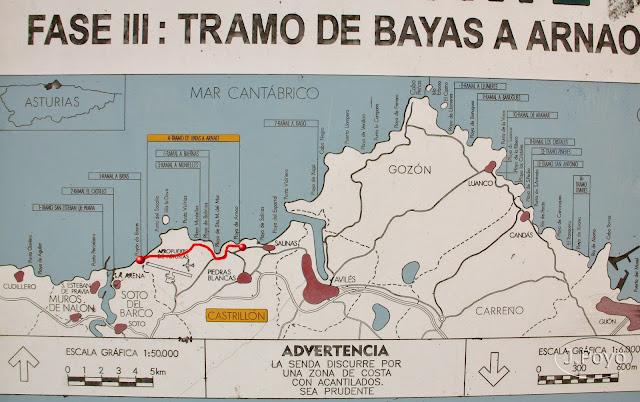 Senda Norte: Arnao, Sta Mª del Mar, Bayas
