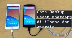 Cara Backup Pesan WhatsApp di iPhone dan Android 1