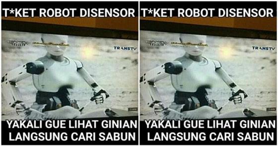 Hanya di Indonesia Dada RobotDalam Film di Sensor
