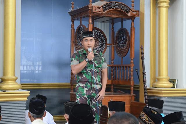 Safari Shalat Jum'at, Dandim 0815/Mojokerto Ajak Tokoh Jaga Stabilitas