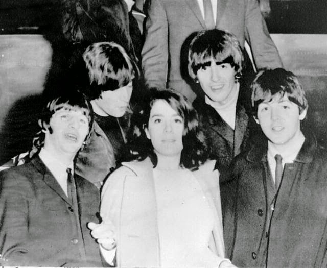 Image result for The Beatles' in the  plane to the Bahamas 1965