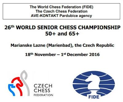 Cartel del XXVI Campeonato Mundial de Ajedrez Senior +65