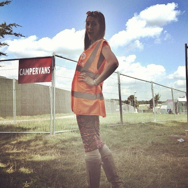 Picture of steward at Leeds Festival