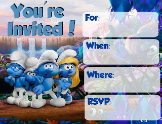 Free Smurfs Invitations