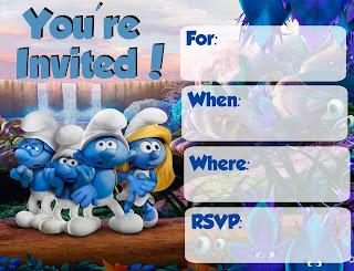 Free Smurfs Invitations