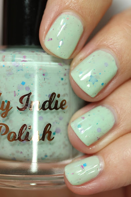 mint green crelly mario cart nail polish