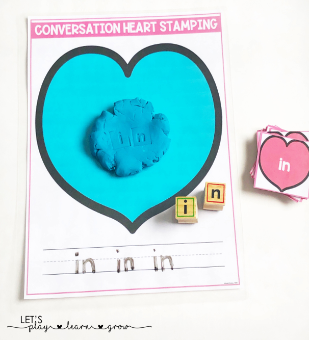 Conversation Heart Sight Word Stamping